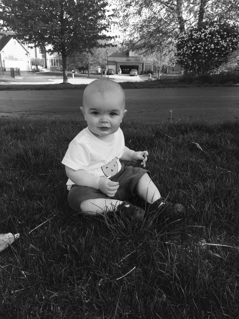 Ben in the grass